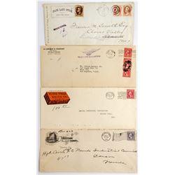 Four Interesting Legal Sized Nevada Envelopes