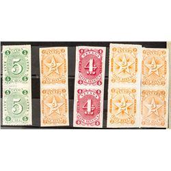 1 x 2 Blocks of Nevada Revenue Stamps