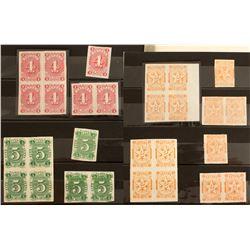 Four Sets of Nevada Revenue Stamp Groups