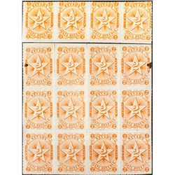 Large Nevada Revenue Stamp Blocks