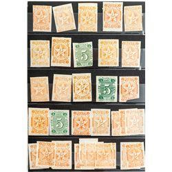 Small Lot of Nevada Single Unused Revenue Stamps