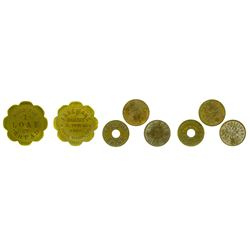 Grass Valley Tokens; Lot of Four
