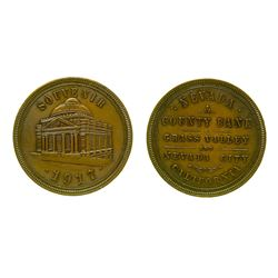 1917 Pictorial Nevada County Bank Souvenir Token