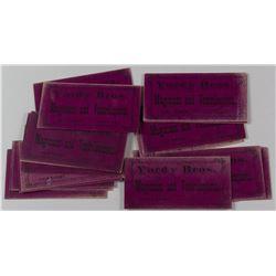 Yordy Bros., Magicians & Ventriloquists, Cardboard Tickets