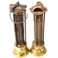 American Safety Lamp and Mine Supply Co. Safety Lamps (Davy Style)