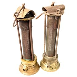 Two Different American Safety Lamp and Mine Supply Safety Lamps