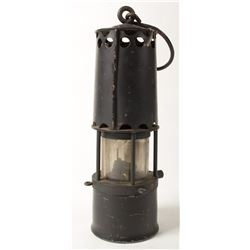 Black Bonneted Clanny Safety Lamp