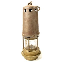 Unusual Bonneted Clanny Style Safety Lamp