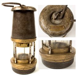 Bonneted Clanny Style Safety Lamp (Sheffield Co.)