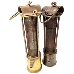 Two Different Davy Style Safety Lamps