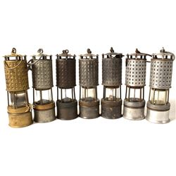 Seven Different Koehler Safety Lamps