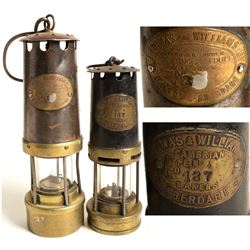 Two Different Thomas & Williams Safety Lamps