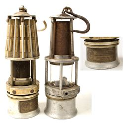 Two Small Wolf Style Safety Lamps
