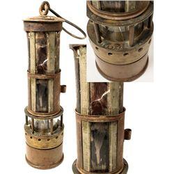 Unusual Safety Lamp w/ Biotite Window