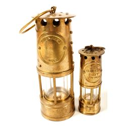 Two Miniature Safety Lamps
