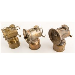 Three Grier Bros. Carbide Lamps