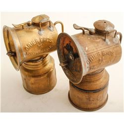 Two Early Grier Bros. Carbide Lamps