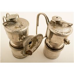 Two 1916 Guy's Dropper Carbide Lamps