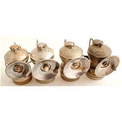 Four I-T-P Carbide Lamps