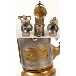Three I-T-P Carbide Lamps