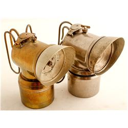 Two Early Justrite Carbide Lamps
