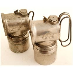 Two Very Early Justrite Carbide Lamps