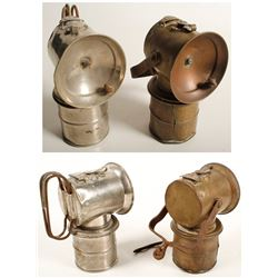 Two Different Justrite Superintendent Lamps