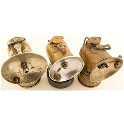 Three Justrite Lamps w/ Different Attachments