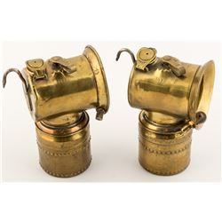 Two Justrite Lamps