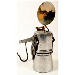 """Uncle Sam Carbide (Justrite) Lamp for """"Use in Wet Mines"""""""