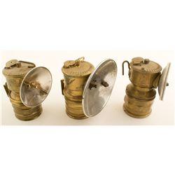 Three Premier Carbide Lamps