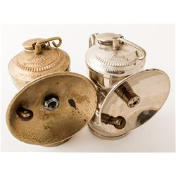 Brass and Nickel Simmons Carbide Lamps