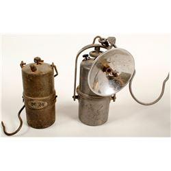 Two Stella Carbide Lamps