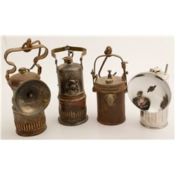 Four Miners Lamps incl. Wolf