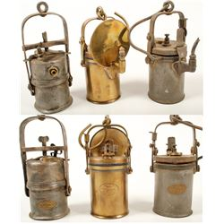 Three Different Wolf Carbide Lamps
