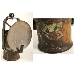 Large, Unusual Wolf Carbide Lamp