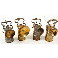 Four Wolf Carbide Lamps
