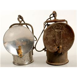 Two Carbide Lamps (Probably Western European)