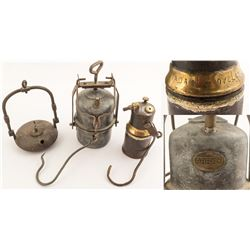 Three Foreign Mining Lamps