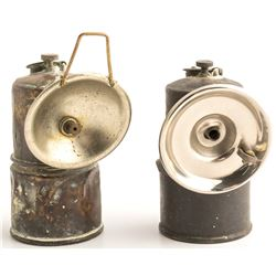 Two Early Carbide Lamps