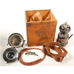 Carbide Hat Lamp Device in original wood box