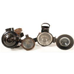 Three Carbide Lamp Attachments
