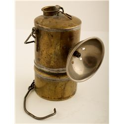 Unusual Early Brass Carbide Lamp