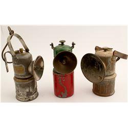 Three Mining Lamps