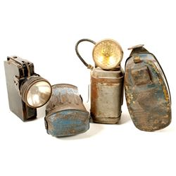 Four Different Belt Mounted Underground Electric Lights