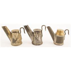 Three George Anton Mining Lamps incl. Rarity