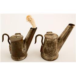2 C. L. Anton Liberty Oil Wick Lamps