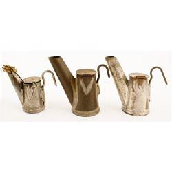 Three Chirry Teapot Mining Lamps