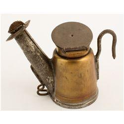 Crown Brass Oil Wick Lamp