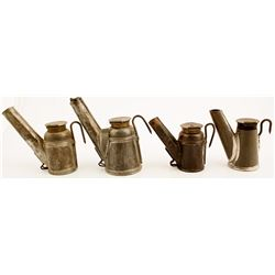 4 Different Crown Oil Wick Lamps